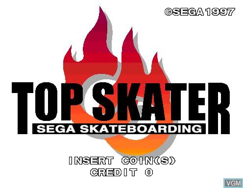 Image de l'ecran titre du jeu Top Skater sur Model 2