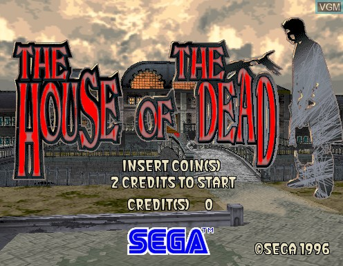 Image de l'ecran titre du jeu House of The Dead, The sur Model 2