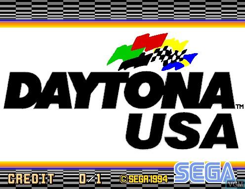 Image de l'ecran titre du jeu Daytona USA sur Model 2