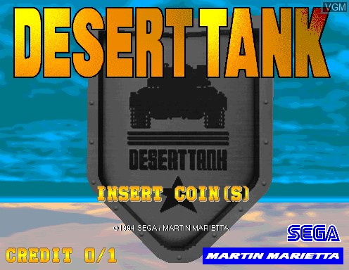 Image de l'ecran titre du jeu Desert Tank sur Model 2