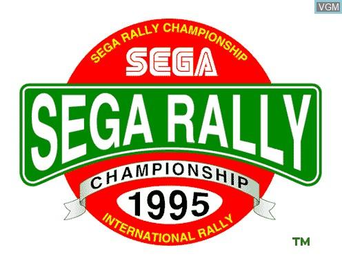 Image de l'ecran titre du jeu Sega Rally sur Model 2