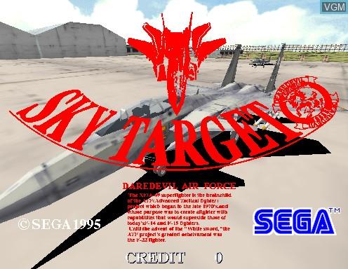Image de l'ecran titre du jeu Sky Target sur Model 2