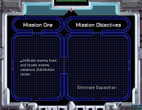 Image du menu du jeu Behind Enemy Lines sur Model 2