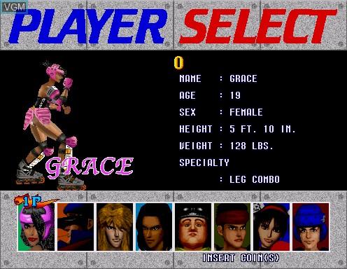 Image du menu du jeu Fighting Vipers sur Model 2