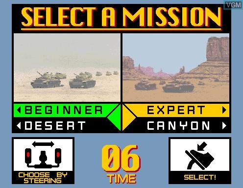 Image du menu du jeu Desert Tank sur Model 2