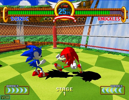 Image in-game du jeu Sonic The Fighters sur Model 2