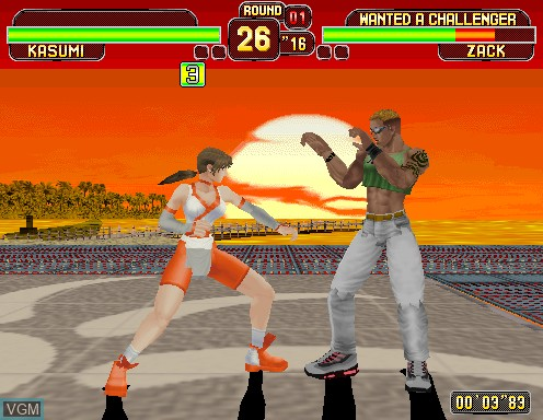 Image in-game du jeu Dead or Alive sur Model 2