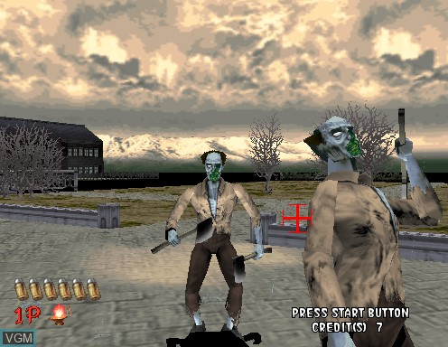 Image in-game du jeu House of The Dead, The sur Model 2