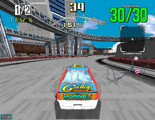 Image in-game du jeu Daytona USA sur Model 2
