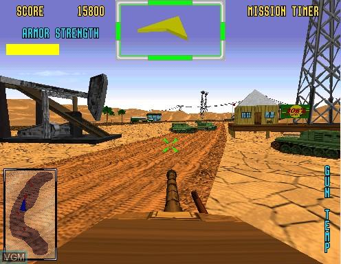Image in-game du jeu Desert Tank sur Model 2