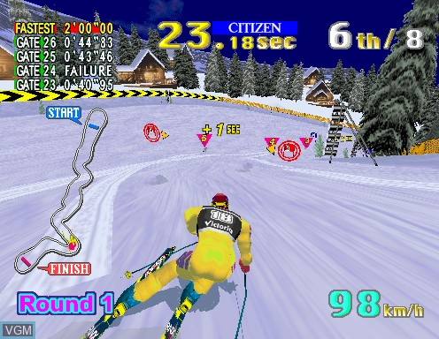 Image in-game du jeu Sega Ski Super G sur Model 2