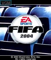 Image de l'ecran titre du jeu FIFA Football 2004 sur Nokia N-Gage