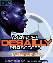 Image de l'ecran titre du jeu Marcel Desailly Pro Soccer sur Nokia N-Gage