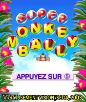 Image de l'ecran titre du jeu Super Monkey Ball sur Nokia N-Gage