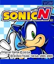 Image de l'ecran titre du jeu Sonic N sur Nokia N-Gage