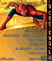 Image de l'ecran titre du jeu Spider-Man 2 sur Nokia N-Gage