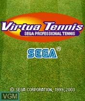 Image de l'ecran titre du jeu Virtua Tennis sur Nokia N-Gage
