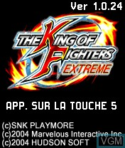 Image de l'ecran titre du jeu King of Fighters Extreme, The sur Nokia N-Gage