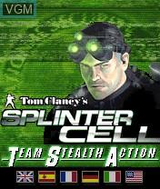Image de l'ecran titre du jeu Tom Clancy's Splinter Cell Team Stealth Action sur Nokia N-Gage