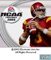 Image de l'ecran titre du jeu NCAA Football 2004 sur Nokia N-Gage
