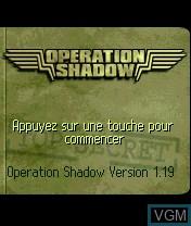 Image de l'ecran titre du jeu Operation Shadow sur Nokia N-Gage