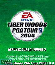 Image de l'ecran titre du jeu Tiger Woods PGA Tour 2004 sur Nokia N-Gage