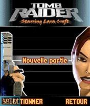 Image de l'ecran titre du jeu Tomb Raider sur Nokia N-Gage