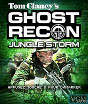 Image de l'ecran titre du jeu Tom Clancy's Ghost Recon - Jungle Storm sur Nokia N-Gage