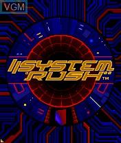 Image de l'ecran titre du jeu System Rush sur Nokia N-Gage