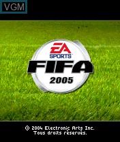 Image de l'ecran titre du jeu FIFA Football 2005 sur Nokia N-Gage