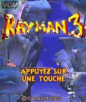 Image de l'ecran titre du jeu Rayman 3 sur Nokia N-Gage