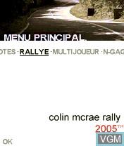 Image de l'ecran titre du jeu Colin McRae Rally 2005 sur Nokia N-Gage