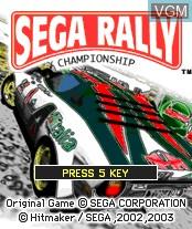 Image de l'ecran titre du jeu Sega Rally Championship sur Nokia N-Gage