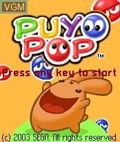 Image de l'ecran titre du jeu Puyo Pop sur Nokia N-Gage