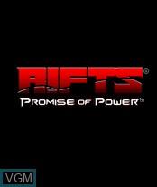 Image de l'ecran titre du jeu Rifts - Promise of Power sur Nokia N-Gage