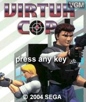Image de l'ecran titre du jeu Virtua Cop sur Nokia N-Gage