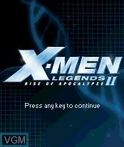 Image de l'ecran titre du jeu X-Men Legends II - Rise of Apocalypse sur Nokia N-Gage