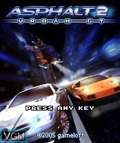 Image de l'ecran titre du jeu Asphalt - Urban GT 2 sur Nokia N-Gage