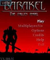Image de l'ecran titre du jeu Barakel - The Fallen Angel sur Nokia N-Gage
