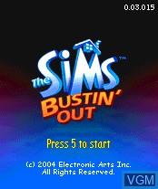 Image de l'ecran titre du jeu Sims, The - Bustin' Out sur Nokia N-Gage