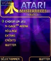 Image du menu du jeu Atari Masterpieces Vol. I sur Nokia N-Gage