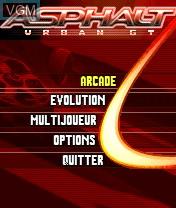 Image du menu du jeu Asphalt - Urban GT sur Nokia N-Gage