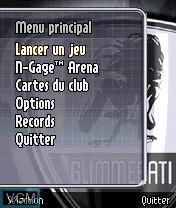 Image du menu du jeu Glimmerati sur Nokia N-Gage