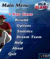 Image du menu du jeu MLB Slam! sur Nokia N-Gage