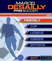 Image du menu du jeu Marcel Desailly Pro Soccer sur Nokia N-Gage