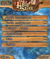 Image du menu du jeu High Seize sur Nokia N-Gage