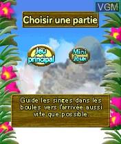 Image du menu du jeu Super Monkey Ball sur Nokia N-Gage