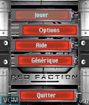 Image du menu du jeu Red Faction sur Nokia N-Gage