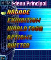 Image du menu du jeu Virtua Tennis sur Nokia N-Gage