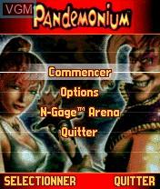 Image du menu du jeu Pandemonium! sur Nokia N-Gage